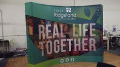 First Ridgeland Baptist Church, Ridgeland, MS POP UP, QUICK UP backdrop