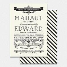 printable DIY wedding invitation suite  MAHAUT by bonjourpapershop, $60.00