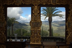 Hearst had the view painted for this room.