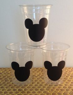24 Mickey Mouse Party Cups Mickey Mouse by LuluBellaCreations