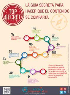 Guía secreta para hacer que el contenido se comparta #infografia #infographic #marketing