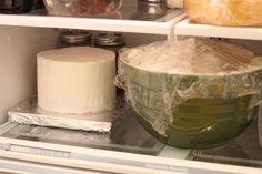 Top tier chillin' in the fridge