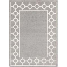 Hall Grey & Ivory Geometric Area Rug
