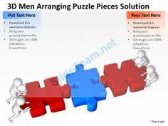 3D Men Arranging Puzzle Pieces Solution Ppt Graphics Icons Powerpoint 0529 #Powerpoint #Templates #Infographics