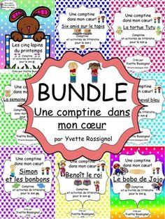8 comptines et activités pour pratiquer la conscience phonologique, les mots fréquents, l'étude de mots et la fluidité en lecture.