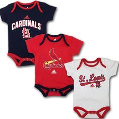 stl cardinals baby room | St. Louis Cardinals Baby Outfit (3 -Pack)