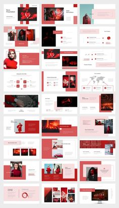Red Gradient Color Tone Keynote Template - Keynote - Ideas of Keynote - Red Gradient Color Tone Keynote Template. 50 unique and editable presentation slides design. Portfolio Design Layouts, Photography Portfolio Layout, Graphic Portfolio, Template Portfolio, Design Portfolios, Artist Portfolio, Design Web, Layout Design, Web Design Tutorial