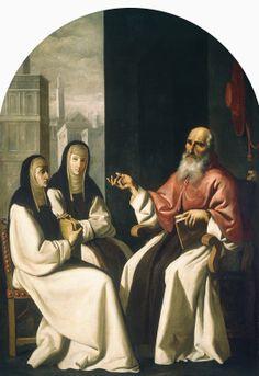 Zurbarán, Francisco de (painter), Spanish, 1598 - 1664 Anonymous Artist (painter) Saint Jerome with Saint Paula and Saint Eustochium c. 1640/1650 oil on fabric