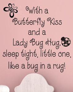 Items similar to Baby Girl Nursery Wall Decal Kids Room Decor Butterfly Wall Decal Ladybug Wall Decals Baby Boy Nursery Wall Decor Baby Nursery Decor on Etsy Just In Case, Just For You, For Elise, Quilt Labels, Butterfly Kisses, Butterflies, Grandchildren, Grandkids, Granddaughters