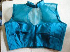 NaliniAnbarasu's Sewing: Netted Princess cut Blouse Tutorial