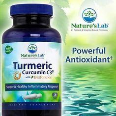 Nature's Lab Turmeric Curcumin C3 1000 mg. 120 Vegetarian Capsules