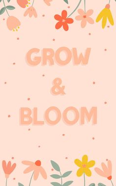 Brighten up your space in a truly feel-good way, with this pink typography wallpaper that inspires you to grow & bloom. Happy Wallpaper, Words Wallpaper, Pastel Wallpaper, Cute Wallpaper Backgrounds, Wallpaper Quotes, Cute Wallpapers, Iphone Wallpaper, Typography Wallpaper, Typography Quotes