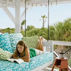 """Sounding Board: Jane designs for """"coffee in the morning and cocktails at night. Pull out a daybed and there's no better place to fall asleep to the sound of the ocean,"""" she says."""