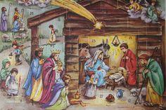 Christmas Advent Haco Calendar ~ Unused Vintage ~ Printed in West Germany by smileitsvintage on Etsy