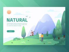 natur illustration Nature-Web web h - natur Design Web, Page Design, Graphic Design, Website Design Inspiration, Layout Inspiration, Flat Design Illustration, Graphic Illustration, Web Layout, Layout Design