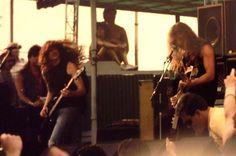 Metallica playing at the Iowa Jam in Des Moines, IA - May 26, 1986 © Matt Wellendorf