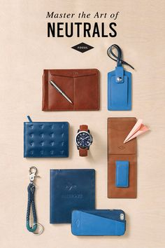 Throw your style into neutral territory with accessory details in the season's most undeniably cool hue: ocean blue.