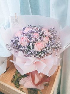 Eternal Love Bouquet Flower Box Gift, Flower Boxes, Flowers For Girlfriend, Babys Breath Flowers, Everlasting Love, Flower Aesthetic, Eternal Love, Rose Bouquet, Fresh Flowers
