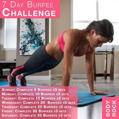 Improve Your Burpees: 7 Day Challenge