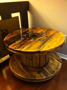 Bobine fil - table