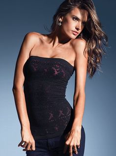 tube top with pink underlay