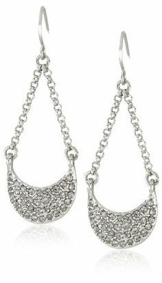 "Kenneth Cole New York ""Urban Stone"" Pave Small Half Moon Chandelier Earrings Kenneth Cole New York. $28.00. Silver tone chandelier chains and half-moon with pave crystal accents Made in CN. Items that are handmade may vary in size, shape and color. Made in China. Silver tone chandelier chains and half-moon with pave crystal accents"