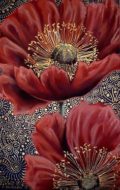 Red Poppies II by Cherie Roe Dirksen (prints available) #poppy #art