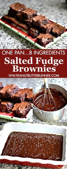 These Salted Fudge Brownies feature just 8 ingredients and are made in ...