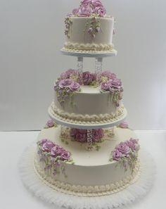 Wedding Cake Photos, Elegant Wedding Cakes, Traditional Wedding Cakes, Wedding Cake Decorations, Just Cakes, Cake Gallery, Holiday Cakes, Secret Recipe, Cake Art
