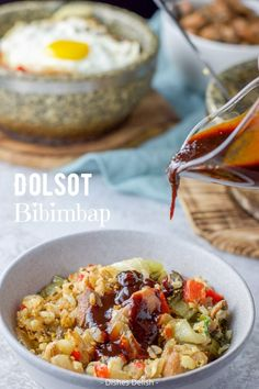 You don't have to be Korean to make this dolsot bibimbap recipe. You just have to have the right tools. It's not only delicious but it's incredibly satisfying. Dolsot Bibimbap, Bibimbap Recipe, Gourmet Recipes, Cooking Recipes, Easy Recipes, Cocktail Recipes, Dinner Recipes, Stone Bowl, Marinated Chicken