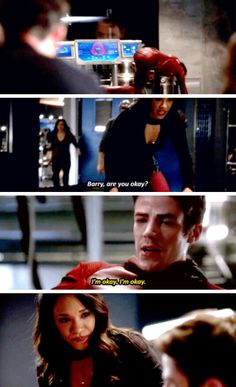 """Barry, are you okay?"" - Iris, Barry, Zoom and Caitlin #TheFlash"