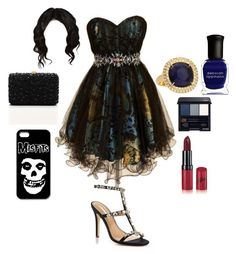 """Hanna's Spring Formal Outfit"" by lewiscooke ❤ liked on Polyvore featuring Rimmel, Deborah Lippmann, Shiseido, David Tutera, Marco Bicego, Elie Saab, women's clothing, women, female and woman"