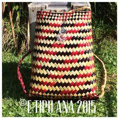 #etipuana_pikau  E Tipu Ana standard Tino Rangatiratanga   Hand woven by julz and em @ E Tipu Ana out of New Zealand harakeke (flax)