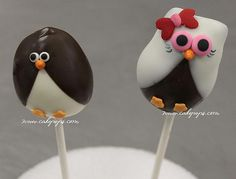 Mr. & Mrs. Penguin Cake Pops