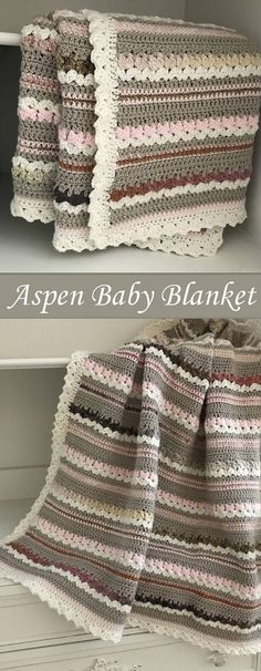 Aspen Woodland Baby Blanket by Deborah O'Leary Patterns | Mix your stitch patterns to create this gorgeously rustic baby blanket