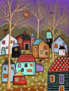 karla gerard art: Newest Paintings Pop Art, Art Fantaisiste, Karla Gerard, Illustration Art, Illustrations, Contemporary Wall Art, Arte Popular, Naive Art, Whimsical Art