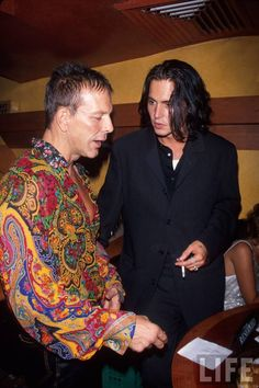 Johnny and Mickey Rourke