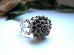 the gray stella ring by barberryandlace on Etsy, $8.00