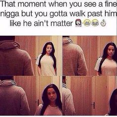 And then stare at him from a distance