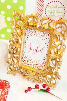 Christmas Gift Idea with free printable!  Capturing-Joy.com