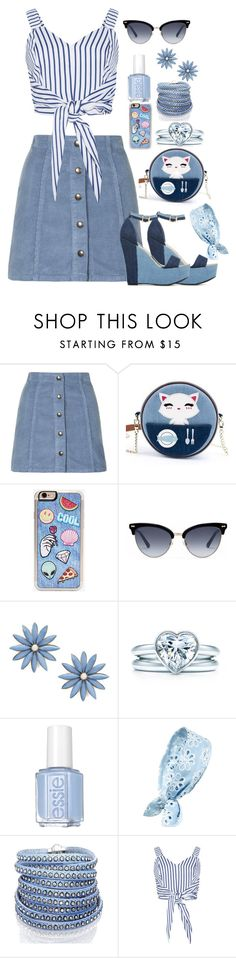 """""""#101"""" by tash005 ❤ liked on Polyvore featuring Topshop, ShoeDazzle, Zero Gravity, Gucci, R.J. Graziano, Tiffany & Co., Essie, Cara and Sif Jakobs Jewellery"""