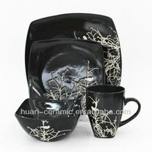 16pcs black square ceramic hand painting dinnerware set  sc 1 st  Pinterest : square stoneware dinnerware sets - pezcame.com
