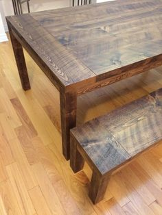 Rustic Dining Table with Matching Bench Dining Bench, Rustic, Furniture, Home Decor, Homemade Home Decor, Table Bench, Retro, Home Furnishings, Farmhouse Style