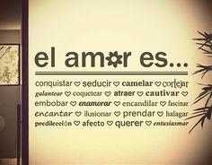 #Vinilos Textos Adhesivos el amor es...
