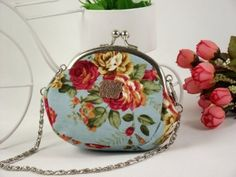 """Anna Sui Vintage Victoria Floral Mini Coin Purse Nice Holiday Wedding Gift ANN006-blue by Anna Sui. $6.99. VERY ELEGANT & CLASSIC A PEFECT GIFT FOR ALL AGE WOMEN COTTON MADE ENOUGH SPACE COMES WITH CHAIN SIZE: 3.25"""" X 3.25"""" X 1.75"""" COLOR: WHITE, PINK, BLUE, BLACK (PLEASE LEAVE THE NOTE TO TELL US THE COLOR WHEN YOU PURCHASE) COMES WITH CLEAR PLASTIC BAG"""