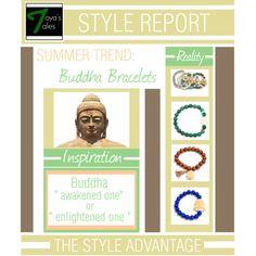 """Summer Trend: Buddha Bracelets"" by latoyacl on Polyvore"