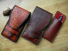 Pencil leather cases