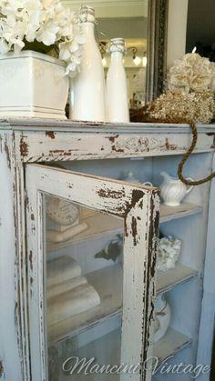 #mancinivintage #paintedfurniture #romantic #frenchcottage #cottage #elegant #gray #coco #vanilla #linen #bathroom #creme #cream #glam #shabbychic #antique #vintage #chest #piesafe #cabinet #hutch #shelf #distressed #kitchen #frenchprovincial #frenchcottage #chic #farmhouse #entry