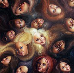 creepy barbie heads