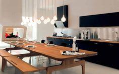 Modern Urban Kitchen Design Inspiration From Schiffini Picture One Wall Kitchen, Urban Kitchen, Space Kitchen, Kitchen Dining, Home Design, Attic Design, Design Ideas, Design Inspiration, Italian Kitchen Decor